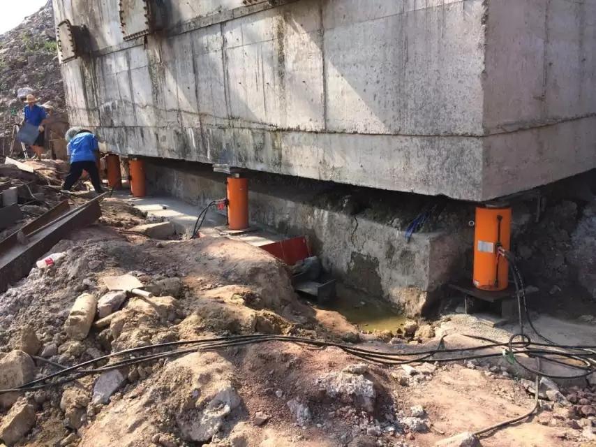 涪陵石砣水池結構糾偏加固工程
